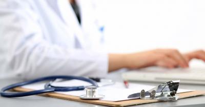 doctor at desk